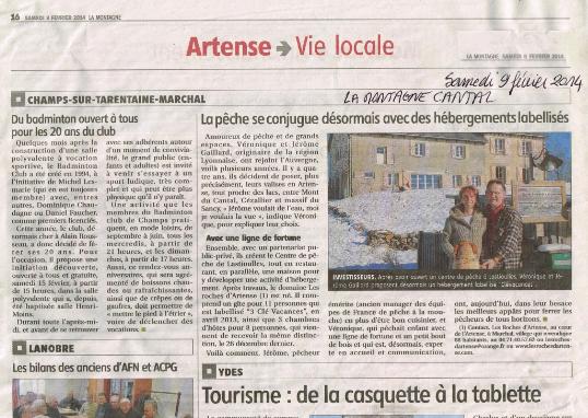 Les Roches d'Artense Véro et Jérôme Gaillard gite et chambres d'ôtes Haut Cantal La Montagne 9 fév 2014