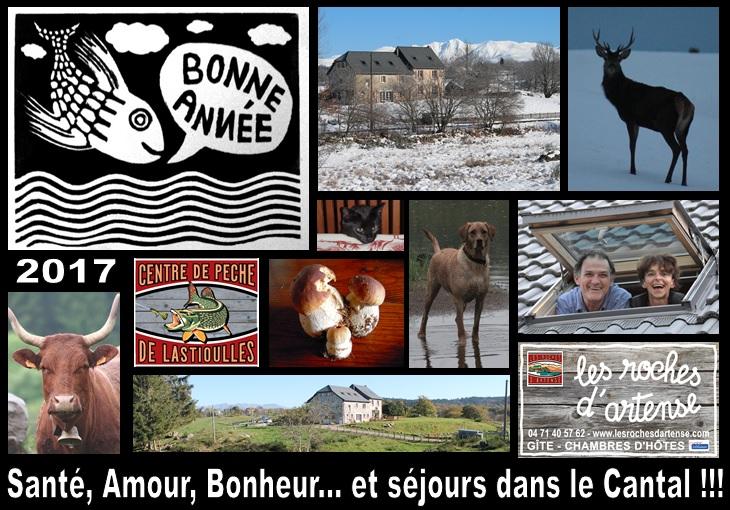 Meilleurs Voeux 2017 des Roches d'Artense, hébergement Cantal Auvergne