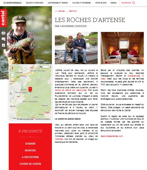 Les Roches d'Artense sur Cantal Destination