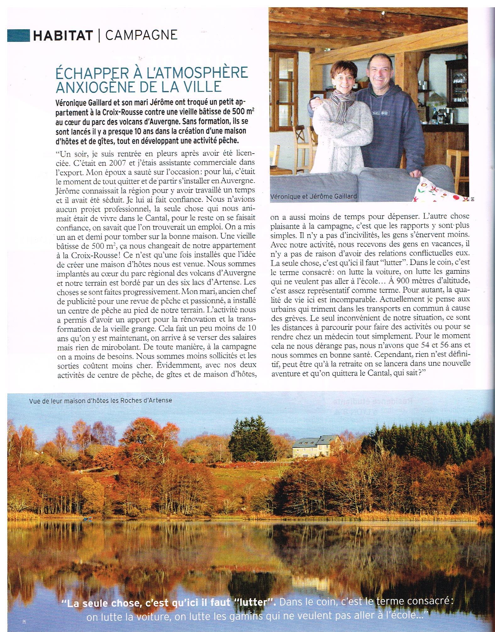 Véronique et Jérôme Gaillard hébergement les roches d'artense haut cantal auvergne