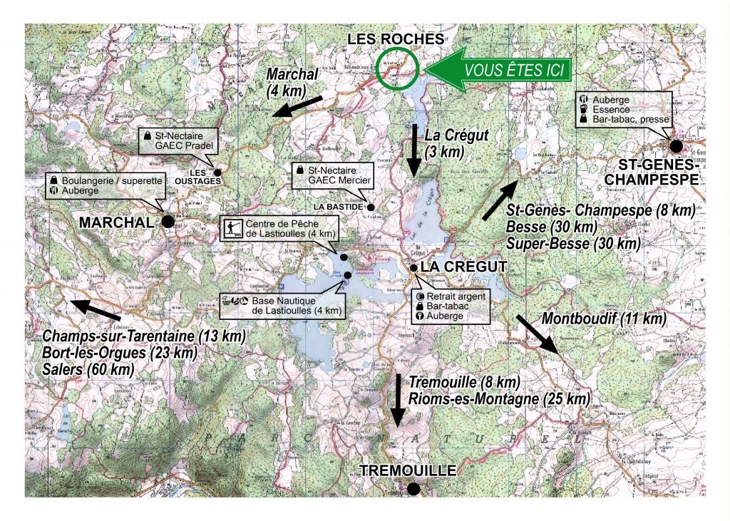 Plan d'accueil Les Roches d'Artense